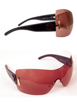 Ladies Designer Fashion Sunglasses by Francesco Biasia with Blue Snakeskin Rims & Lilac Tinted Lenses
