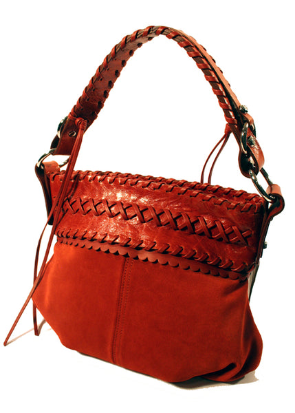 Ladies Designer Fashion Handbag by Francesco Biasia Sweet Emotion in a Beautiful Red Brick Colour