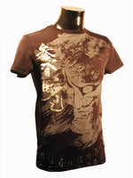 Mens Designer Fashion T-Shirt by Advocate H1 in Black with Amazing Chinese Spiritual Theme
