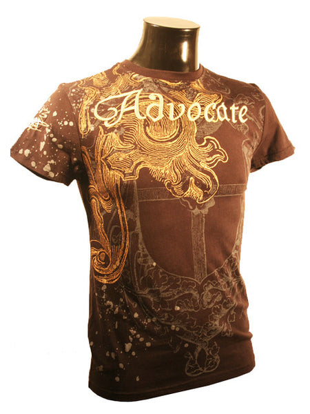 Mens Designer Fashion T-Shirt by Advocate H4 in Black with Gothic Theme