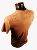 Mens Designer Fashion T-Shirt by Advocate H6 in Brown with Skull Design