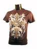 Mens Designer Fashion T-Shirt by Advocate H7 in Black with Cross & Sword Theme
