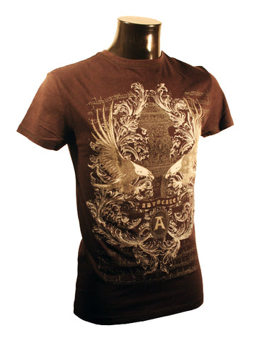 Mens Designer Fashion T-Shirt by Advocate H8 in Black with an Amazing Eagle Theme