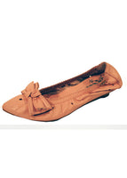 Ladies Designer Fashion Shoes by XTi Flat Casual Pointed Design with Bow in Pink