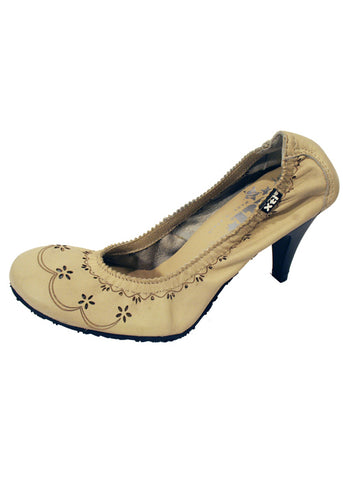 Ladies Designer Fashion Shoes by XTi Court Style in Beige