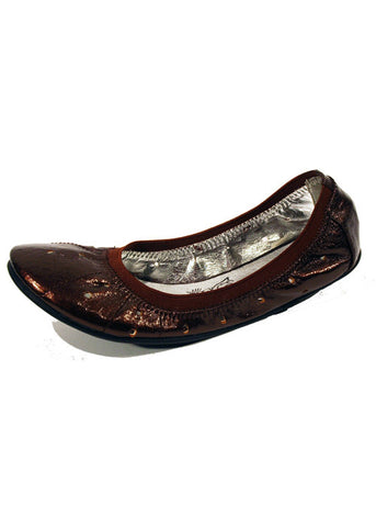 Ladies Designer Fashion Shoes by XTi Flat Casual Snug Fit with Elastic Edge in Brown