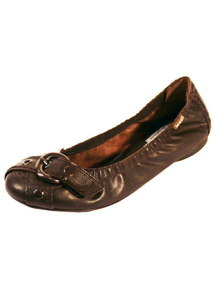 Ladies Designer Fashion Shoes by XTi Flat Casual Design with Elastic Edge in Brown