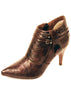 Ladies Designer Fashion Ankle Boots Lady Pu by XTi in Brown