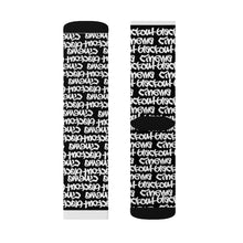 Load image into Gallery viewer, Blackout blackground graff Sublimation Socks