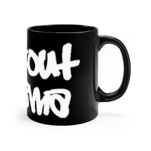 Blackout graff Black mug 11oz