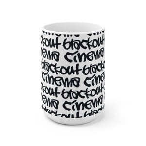 Blackout graff White Ceramic Mug