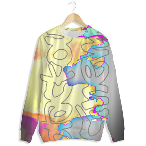 Blackout tye dye sweatshirt