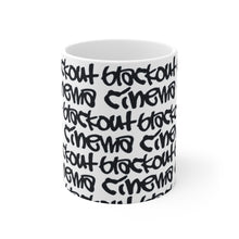 Load image into Gallery viewer, Blackout graff White Ceramic Mug