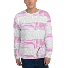 Load image into Gallery viewer, Blackout strawberry stripe Unisex Sweatshirt