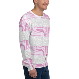 Blackout strawberry stripe Unisex Sweatshirt