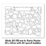 Fill-me-in Poster - Birds 20 & 60