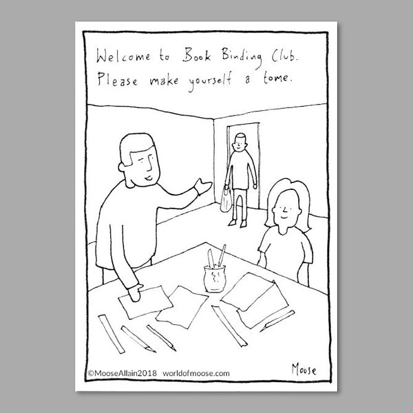 Book Binding Club Cartoon