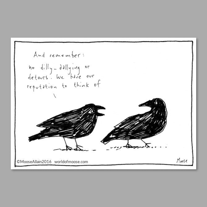 Crow Flies Cartoon