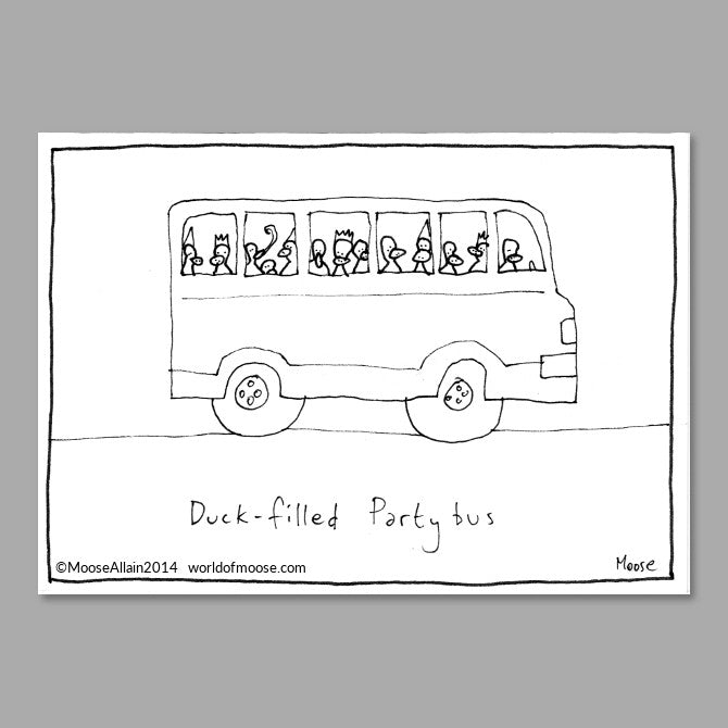 Duck-filled Party bus Cartoon