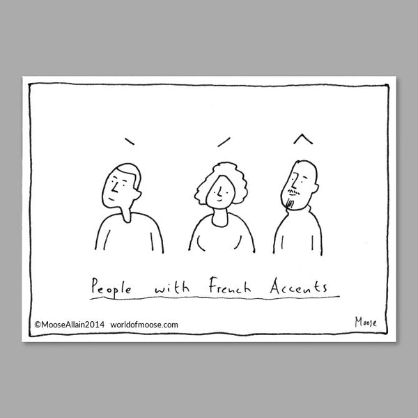 French Accents Cartoon