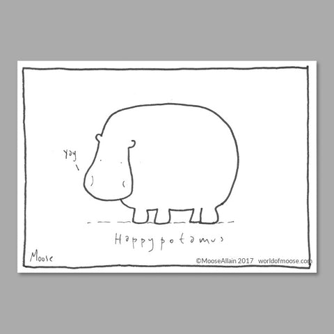 Happypotamus Cartoon