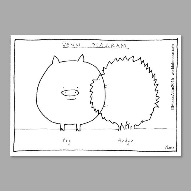 Hedgehog Venn Cartoon