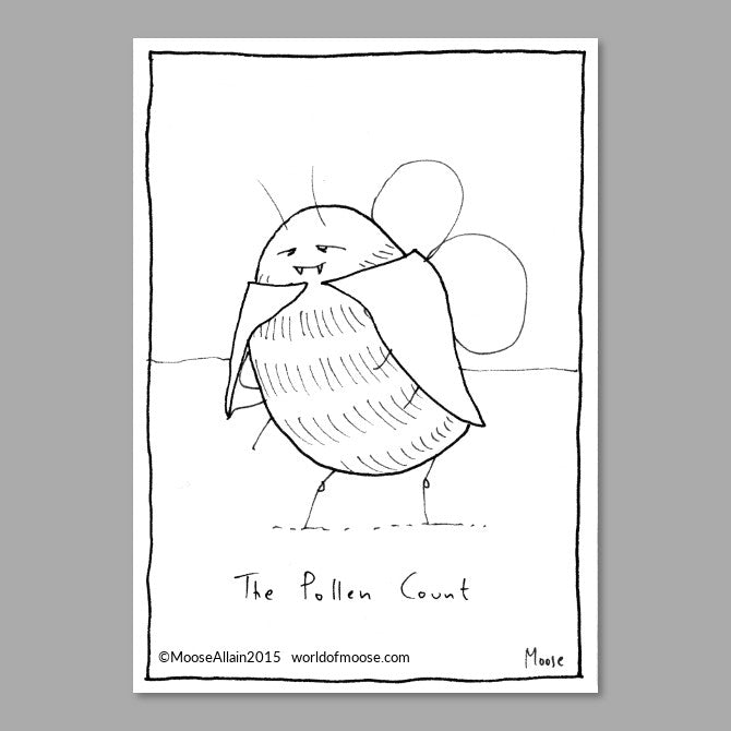 Pollen Count Cartoon