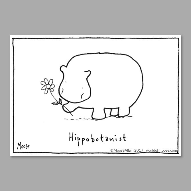 Hippobotanist Cartoon