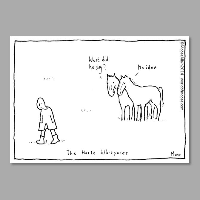 The Horse Whisperer Cartoon