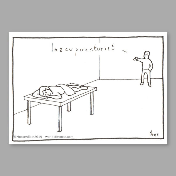 Inacupuncturist Cartoon