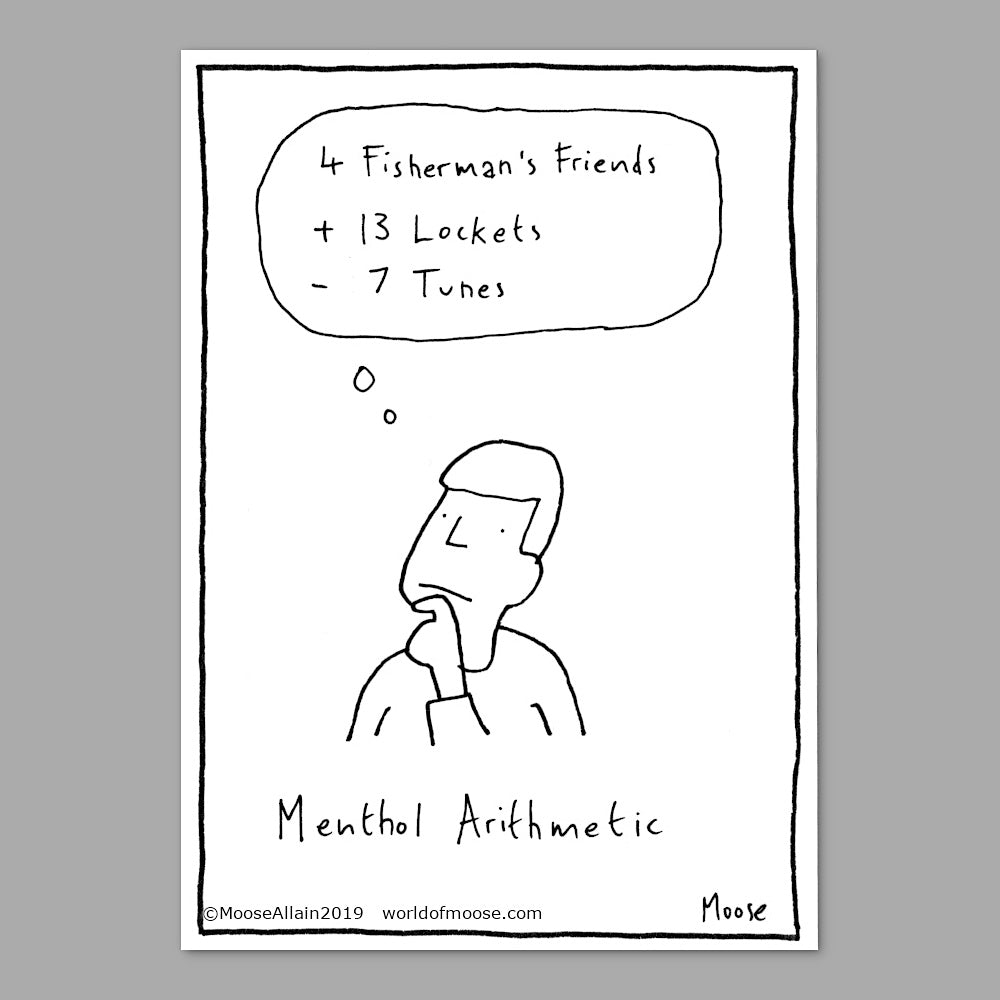 Menthol Arithmetic cartoon