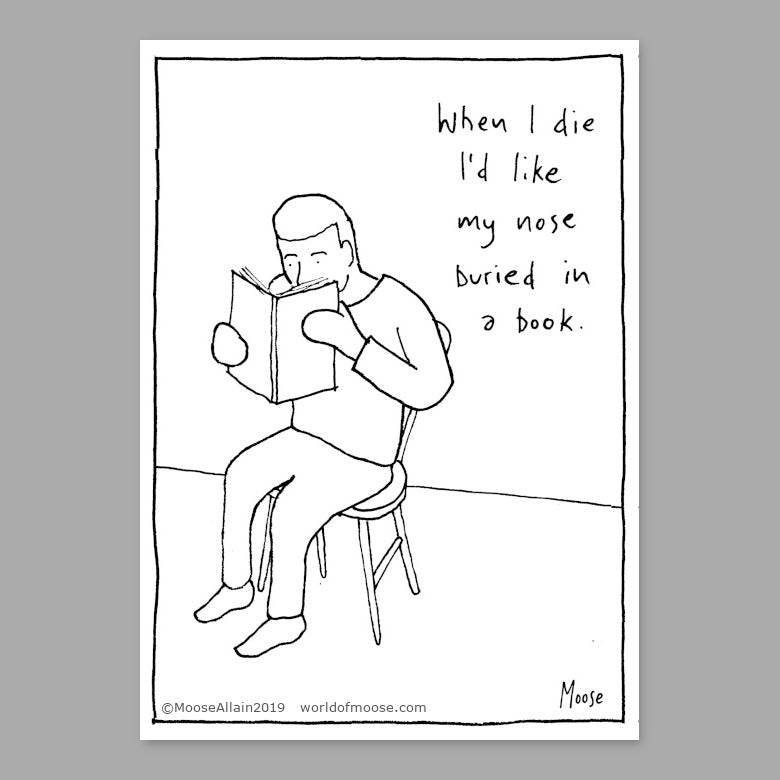 Nose In A Book Cartoon