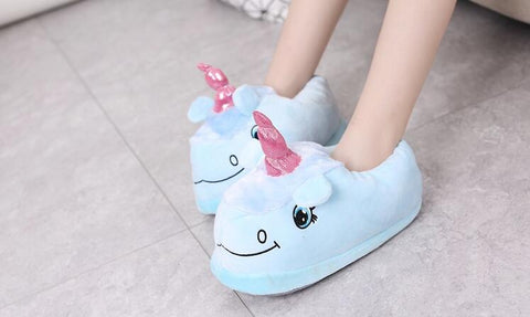 image exemple chaussons licorne aux pied