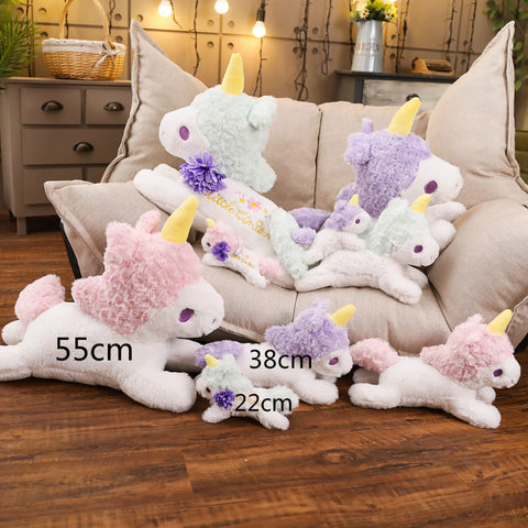 La colection de peluche licorne kawaii