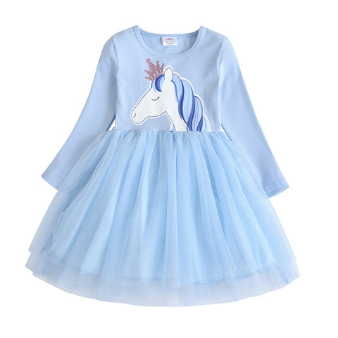 image, viduel de la photo de la robe licorne pour enfant collection bleue