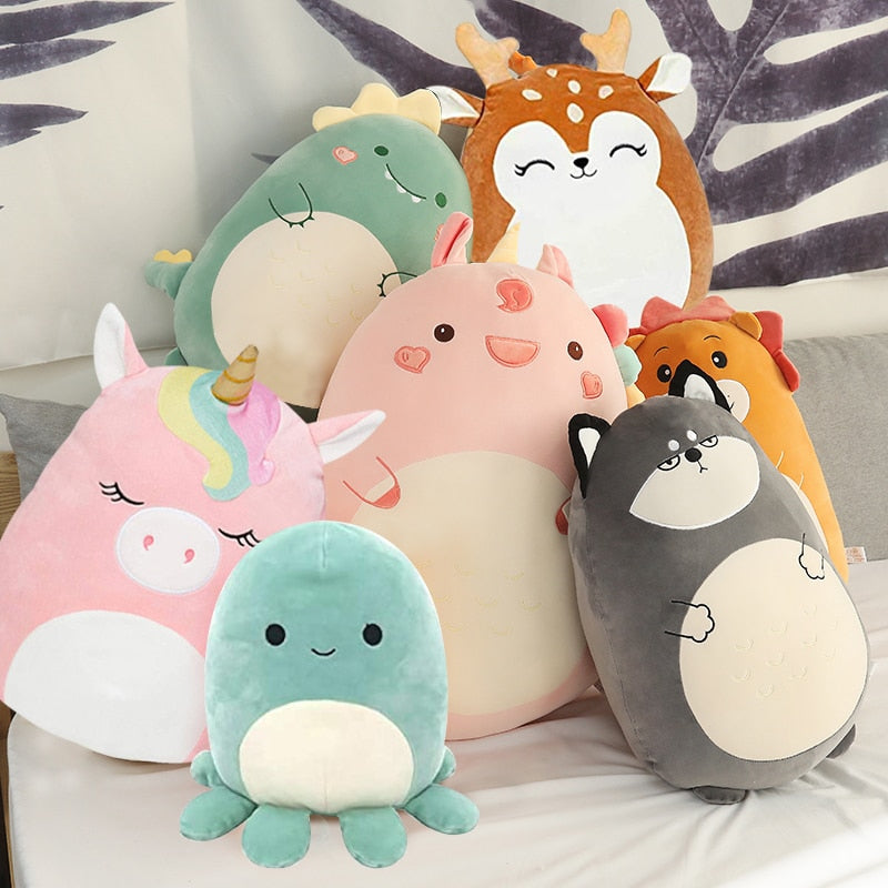 Squishmallow  peluche kawaii : Chat gris