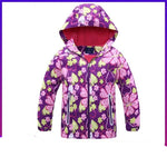 Manteau polaire kawaii pour enfants : Purple red flowers
