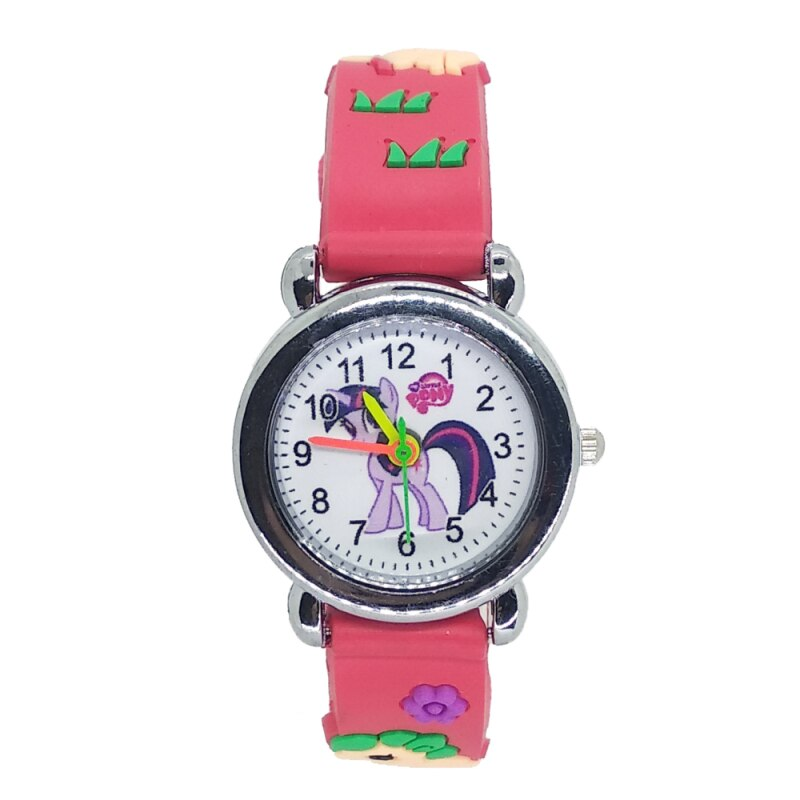 Montre licorne enfant  TWILIGHT SPARKLE : bracelet rouge