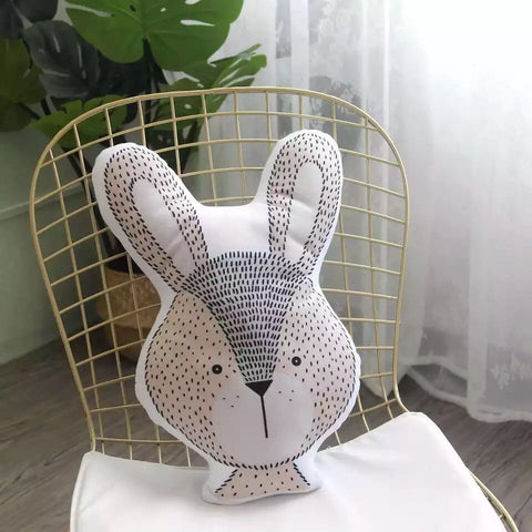 Coussin kawaii en forme d'animaux : lapin