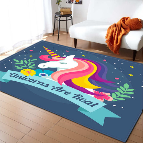 Tapis licorne unicorn are real