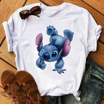 Tops tee shirt kawaii Lilo Stitch Harajuku