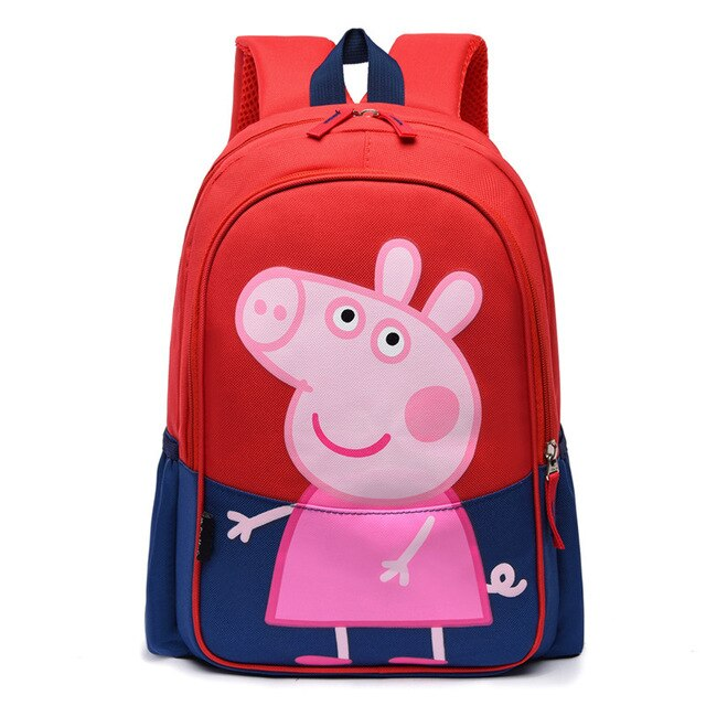 Peppa Pig Bag Children Backpack Girls School Bags Bookbag Kids Pu Rucksack Satchel Kindergarten Cartoon Student Unisex Schoolbag