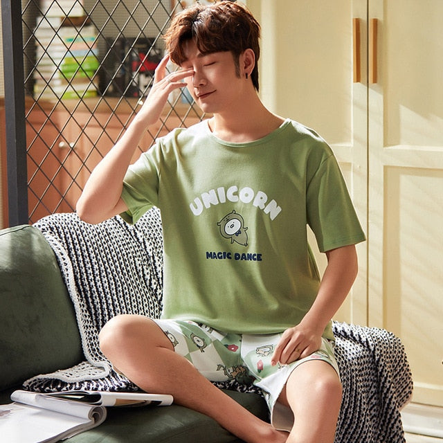 Pyjama kawaii Matcha Green couple assorti