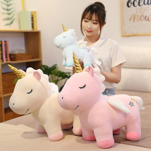 33/45/58cm Lovely Unicorn Plush Stuffed Dolls Kawaii Animal Unicornio Plush Toys for Child Baby Appease Sleep Pillow Gift