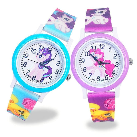 2020 New unicorn design cartoon Fashion Pony Watch children Jelly boy girl Students kids Quartz Watches relogio kol saati clock