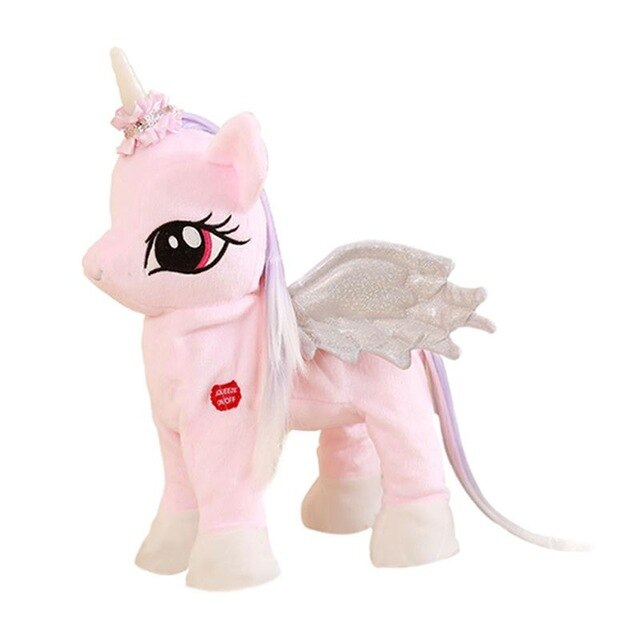Valentines Day Gift Plush Unicorn Pony Toy Cute Plush Pony Toys Electronic Kid Toy Musical Unicorn Soft Toys for Children