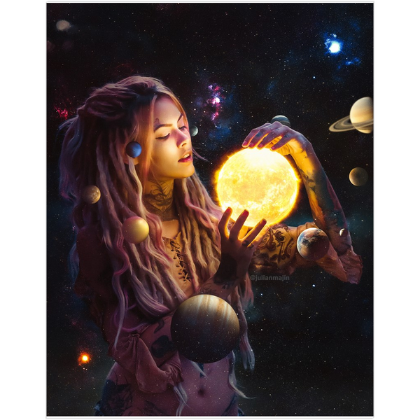 Galaxy Girl Fine Art Print