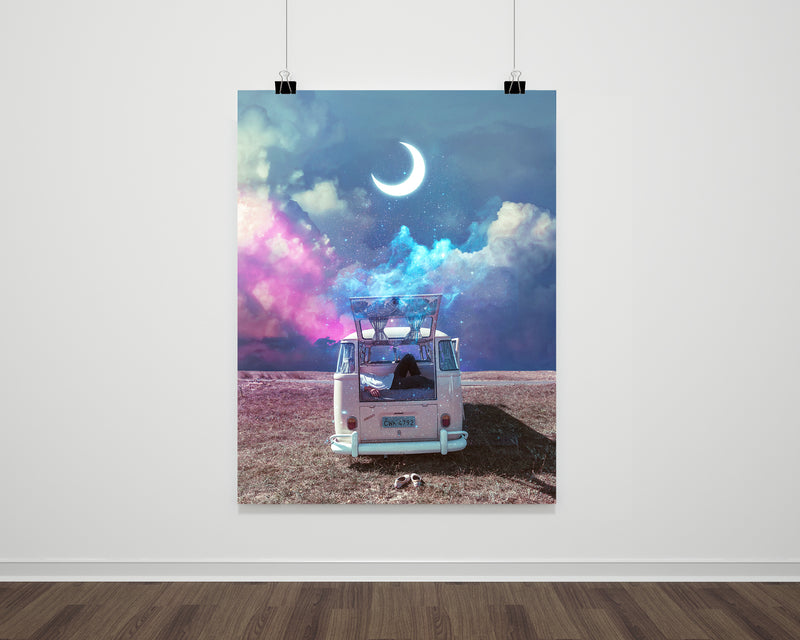 Moon Escape Fine Art Print