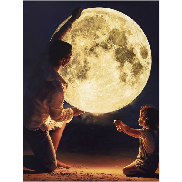 Moon Dad Fine Art Print