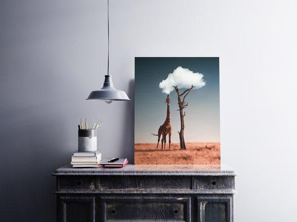 Cloud Giraffe Canvas